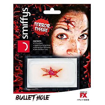 Horror såret overføring Bullet Hole såret Halloween Fancy kjole tilbehør