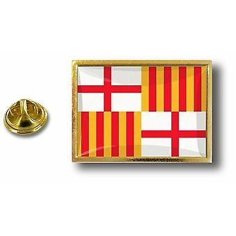 Pine PineS Abzeichen Pin-Apos;s Metall Pince Papillon Flagge Barcelona Barcelona