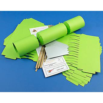 8 Jumbo Lime Green Make & Fill Your Own DIY Recyclable Christmas Cracker Kit