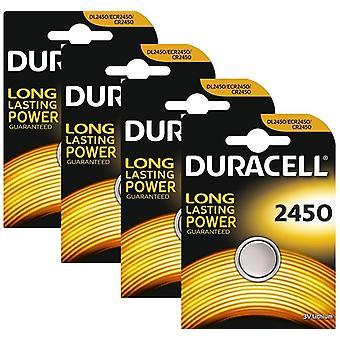 4 x Duracell CR2450 3V Lithium Coin Cell Battery 2450 DL2450 K2450L