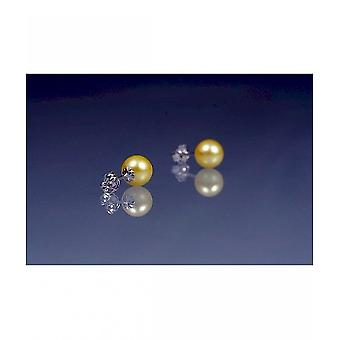 Luna-parels Akoya Beaded hengsten met wit goud O52
