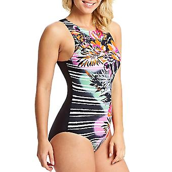 Zoggs naisten Latino rakkaus Hi edessä uinti uida allas uimapuku-Multi