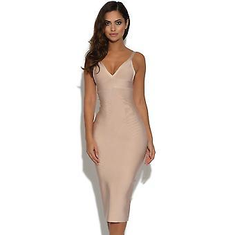 Luxe Nude Bandage Dress