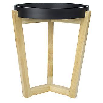 Luonnollinen geometrinen ja musta pääty- tai sivupöytä
