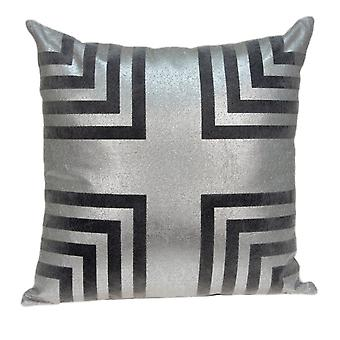 "20"" x 7"" x 20""  Cool Gray Pillow Cover With Down Insert"