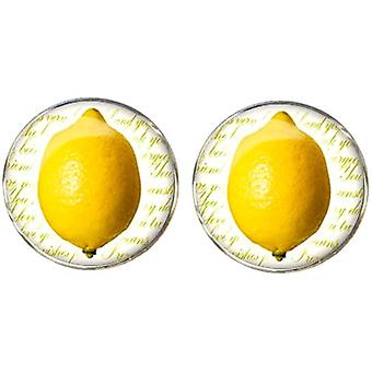Bassin and Brown Lemon Cufflinks - Yellow/White