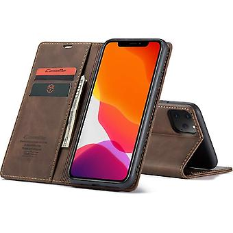 Retro Wallet Slim Cover for iPhone 11 Brown