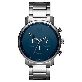 MVMT Chrono Midnight Silver Men's Watch Watch stainless steel MC01-SBLU