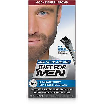 Just For Men Brush In Colour Gel for Moustache, Beard & Sideburns - Medium Brown M35