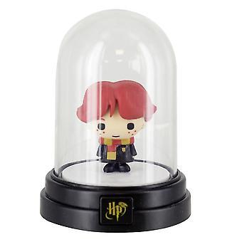 Harry Potter mini-Dome lampe Ron sort/transparent, trykt, lavet af plastik, i gaveindpakning.