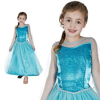 Ice Princess Ice Princess child costume dress blue glittering girl costume