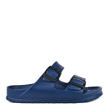 Birkenstock Men's Arizona Navy Rubber Two Strap Sandal