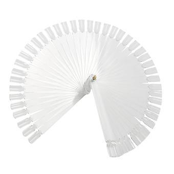 TRIXES 50 falsa unha arte dicas varas Display Fan placa polonês praticam Clear