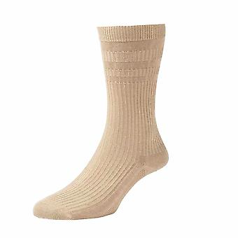 Ladies HJ91 HALL SOFTOP Soft Top loose top Wide Cotton Rich Socks 4-7 Oat