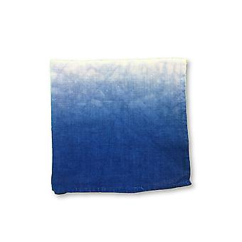 Jacob Cohen Pocket Square in blue and white tie-dye design