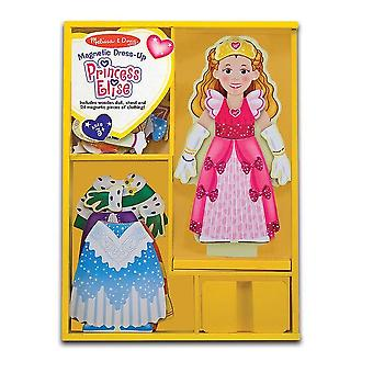 Childrens Melissa and Doug Princess Elise Magnetic Wooden Dress-Up Doll 3+ years