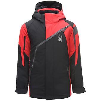 Spyder CHALLENGER Kinder Ski Jacke - schwarz / rot