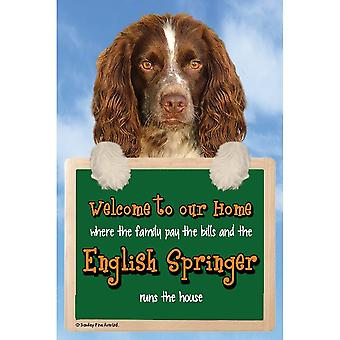 Faithful Friends Collectables Welcome 3d Hang-up English Springer