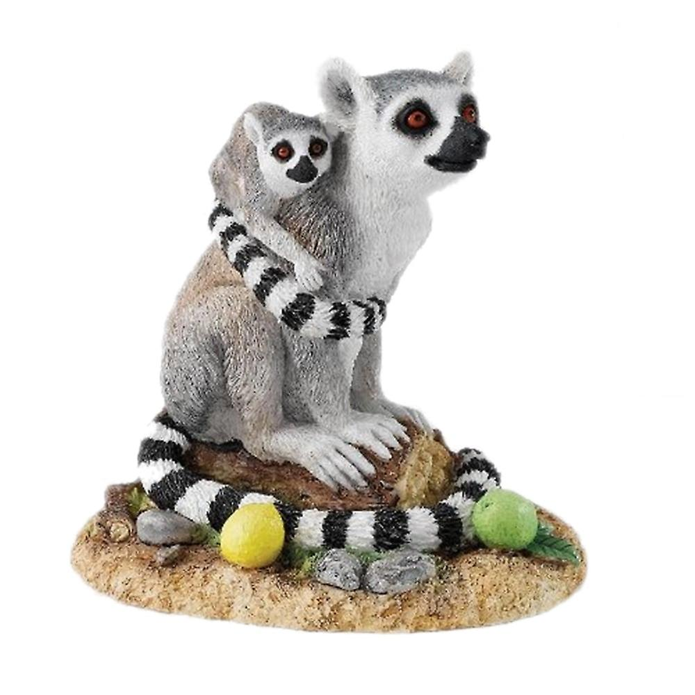 Country Artists Natural World Never Letting Go Lemur & Young Figurine