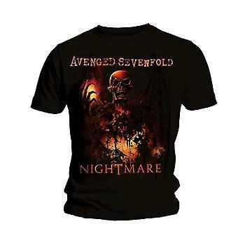Avenged Sevenfold Hellfire Skeleton rock officiell T-shirt
