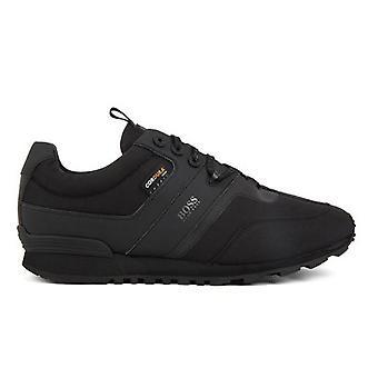 Hugo Boss Footwear Hugo Boss Men's Black Parkour Runn Hybrid Low-Top Trainers