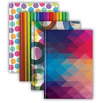 Tiger Stationery Casebound/Hardback 72 Sheet Notebooks (Pack of 5)