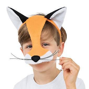 Bristol Novelty Childrens/Kids Half Face Fox Mask