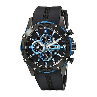 Burgmeister-quartz with analog Display and Silicone bracelet 535-632 BM, color: black