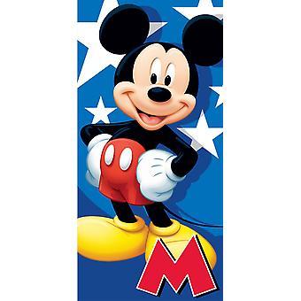 Towel - Disney - Mickey Mouse Velour Beach New 007088