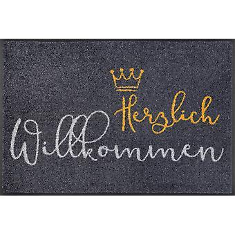 wash+dry doormat Welcome crown 50 x 75 cm dirt mat