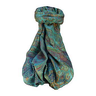 Mens Jamawar Premium Silk Scarf Pattern 9519 by Pashmina & Silk