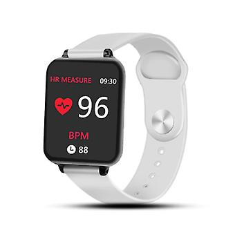 Stuff Certified® B57 Sports SmartWatch Fitness Sports Activity Tracker Heart Rate Monitor Watch Smartphone iOS iPhone Android Samsung Huawei White