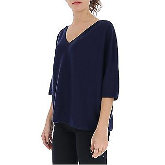 Gentry Portofino D608cog0006 Women's Blue Cotton Sweater