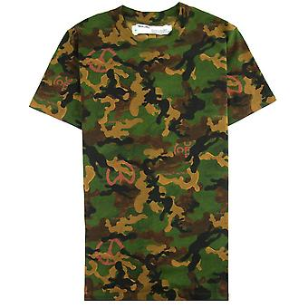 Off-White Off weiß Acryl Camouflage S/s T Shirt Camo