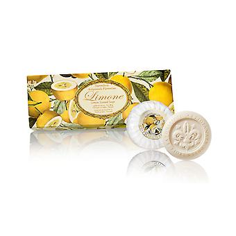 Saponificio Artigianale Fiorentino Handmade Lemon Lime Soap Lovingly Packed in High Quality Gift Box 3x100g