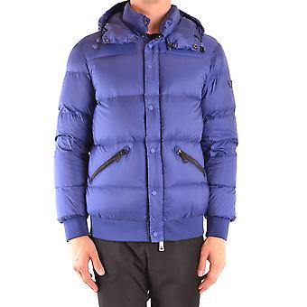 Armani Jeans Ezbc039156 Men's Blue Nylon Outerwear Jacket