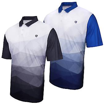 Island Green Mens 2020 Abstract Design Wicking Golf Polo Shirt
