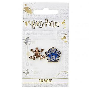 Harry Potter Schokolade Frosch Pin Abzeichen Set (2 Stück)