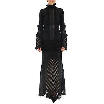 Amen Couture Acw19512009 Frauen's schwarze Acetat Kleid