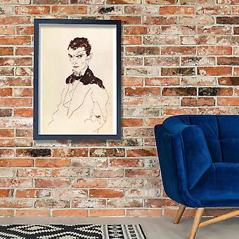 Egon Schiele - Sketch of Man Poster Print Giclee