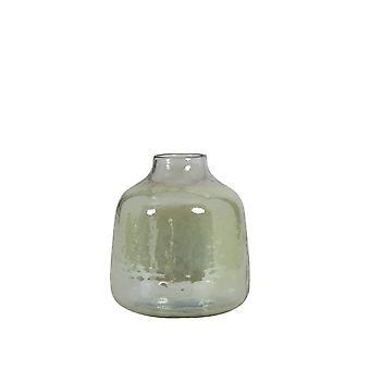 Light & Living Vase 13.5x14.5cm Robin Glass Olive Green