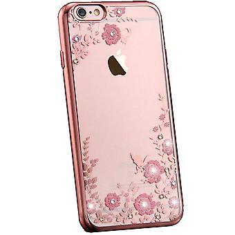 Flower bling  soft gel iphone 8 plus case