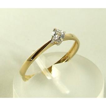 Atelier Christian 14 carat gold ring with zirconia
