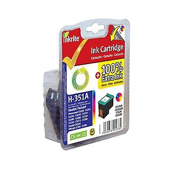 Inkrite NG inktcartridges (HP 351) voor HP Vivera PhotoSmart C4280/C5280 - CB337EE kleur