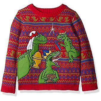 Blizzard Bay Boys Ugly Chrismas Sweater Animals, red/green/raptors, 6 L
