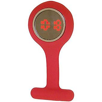 Boxx Led Digital Indian Red Rubber Infection Control Nurses Fob Watch