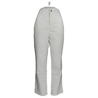 Denim & Co. Damen's Jeans Classic Denim Distressed Knöchel weiß A304475
