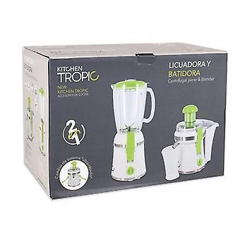 2-in-1Blender Keuken Tropic 300W Wit Groen