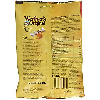 Werthers Original cremige Toffees, zuckerfrei, 80g Tasche