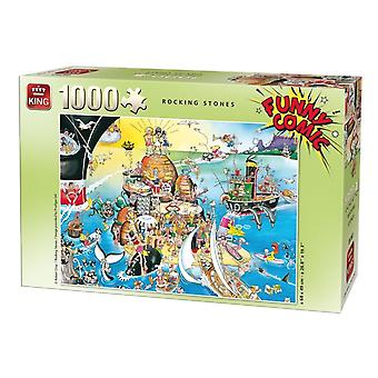 King Jigsaw Puzzle - Comic Collection Rocking Stones, 1000 Piece